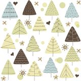 Fir tree doodle forest abstract background. Fir tree doodle forest abstract vector background Stock Photography