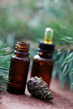 Fir tree essential oil Stock Photo