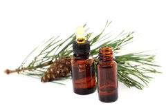 Fir tree essential oil Stock Photos