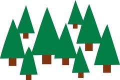 Fir tree forest icons. Vector Stock Photography