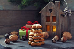 Fir tree from ginger biscuits Stock Image
