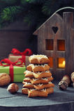 Fir tree from ginger biscuits Stock Photos