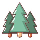 Fir tree icon, cartoon style. Fir tree icon. Cartoon illustration of fir tree vector icon for web Royalty Free Stock Photo