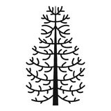 Fir tree icon, simple style. Fir tree icon. Simple illustration of fir tree vector icon for web Royalty Free Stock Photos