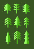 Fir tree icons. Simple fir tree icons, editable color, vector illustration Royalty Free Stock Photo