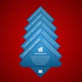 Fir tree infographics. Modern design template. Stock Image