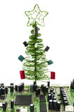 Fir-tree for master on electric devices Stock Photo