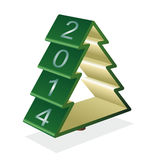 Fir tree 2014. New year pine-tree Stock Photos