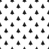 Fir tree pattern, simple style. Fir tree pattern. Simple illustration of fir tree vector pattern for web Royalty Free Stock Photos