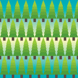 Fir tree pattern. Vector seamless Fir tree pattern Stock Photo