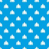 Fir tree pattern vector seamless blue. Repeat for any use Royalty Free Stock Photo