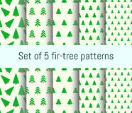 Fir Tree pattern. Vector fir Tree seamless pattern set. abstract concept collection Royalty Free Stock Image