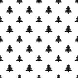 Fir tree pattern vector. Fir tree pattern seamless in simple style vector illustration Stock Image