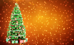 Fir-tree with place Royalty Free Stock Images