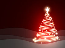 Fir-tree and red background. Fir-tree and red, empty background (done in 3d vector illustration
