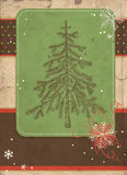 Fir tree scrapbook card Royalty Free Stock Image