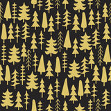 Fir tree seamless pattern colorful. Royalty Free Stock Photography