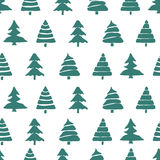 Fir tree seamless pattern Stock Photo