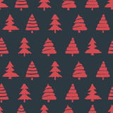 Fir tree seamless pattern Royalty Free Stock Photo
