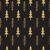 Fir tree seamless pattern colorful. Stock Images