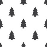 Fir-tree,  seamless pattern. Editable can be used for web page backgrounds, pattern fills Stock Image