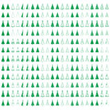 Fir tree set. More than 250 vector illustrations icon of the Christmas tree with decoration and star set Stock Image