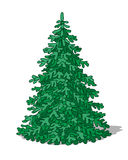 Fir tree. Simplified image of fir tree on white background Stock Photos
