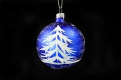 Fir tree and snow Christmas bauble stock photos