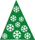 Fir tree with snowflakes in it. Vector Stock Photo