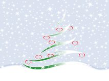 Fir tree. Symbolic image of the fir tree and snowflakes Royalty Free Stock Photos