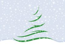 Fir tree. Symbolic image of the fir tree and snowflakes Royalty Free Stock Image