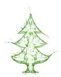 Fir tree from water splash Stock Image