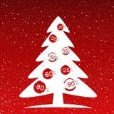 Fir-tree winter discounts Christmas sale royalty free illustration