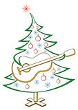 Fir-tree With Guitar, Pictogram Stock Images