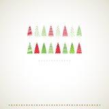 Fir-trees ανασκόπηση χειμερινών γεγονότων. απεικόνιση αποθεμάτων