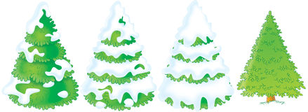 Fir trees Stock Image