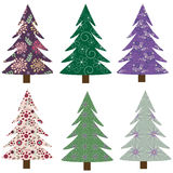 Fir-trees collection. Christmas designes collection of fir-trees - vector illustration Royalty Free Stock Photo