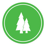 Fir Trees flat icon Stock Photo