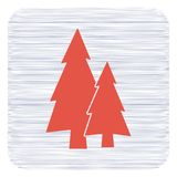 Fir Trees forest. Flat icon Stock Photos