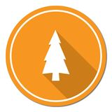 Fir Trees icon. Fir Trees forest flat icon Royalty Free Stock Photos