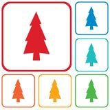 Fir Trees icon. Fir Trees forest flat icon Stock Image