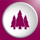 Fir Trees forest icon. Fir Trees forest flat icon Royalty Free Stock Photos