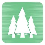 Fir Trees forest icon. Fir Trees forest flat icon Royalty Free Stock Images