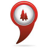 Fir Trees forest. Flat icon Royalty Free Stock Photography