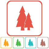Fir Trees forest. Flat icon Royalty Free Stock Photos