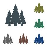 Fir Trees forest icon. Fir Trees forest flat icon Royalty Free Stock Photography