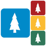 Fir Trees icon. Flat icons of Fir Trees set Stock Image