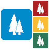 Fir Trees icon. Fir Trees flat icons set Royalty Free Stock Images