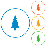 Fir Trees icon. Fir Trees flat icons set Royalty Free Stock Photos