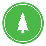 Fir Trees icon. Fir Trees flat icon. Vector Royalty Free Stock Photo